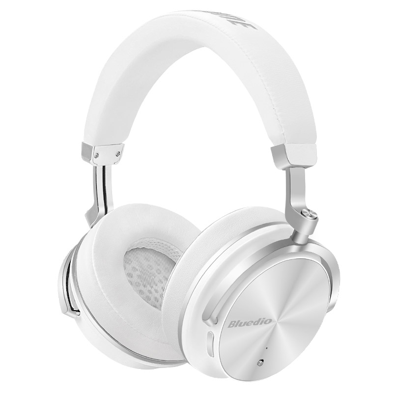 New Bluedio T4 Active Noise Cancelling ANC Wireless Bluetooth Headphone Headset With Mic White Colour