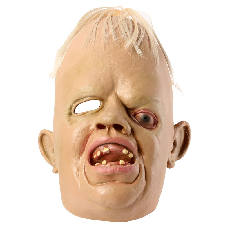 Cyclopia Bucktooth Latex face Mask Terrifying Halloween Supply Accessories