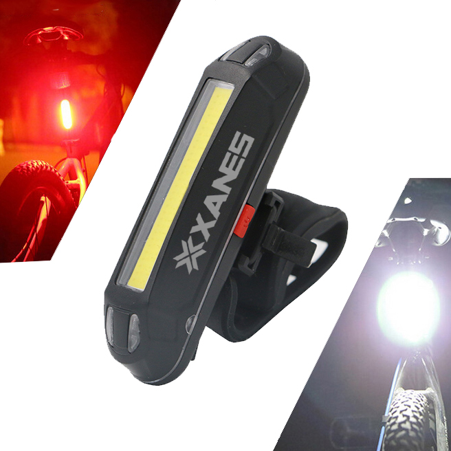 2-in-1 500LM USB Rechargeable Waterproof Bicycle LED Bike Front Light Taillight Night Light