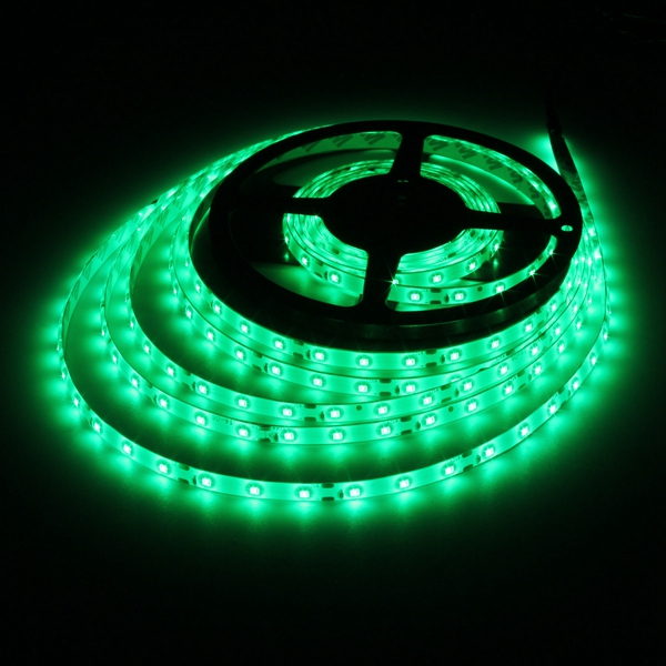 5M 24W DC12V 300 SMD 2835 Waterproof  LED Flexible Strip light Green Colour