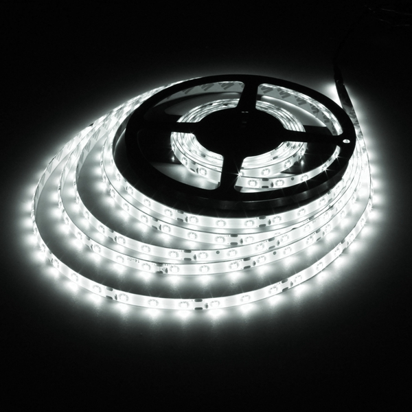 5M 24W DC12V 300 SMD 2835 Waterproof  LED Flexible Strip light Pure white Colour