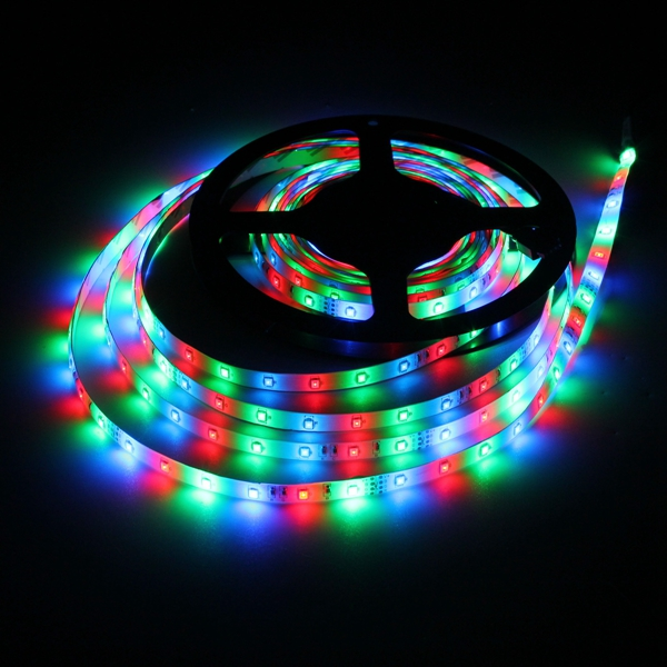 5M 24W DC12V 300 SMD 2835 Waterproof  LED Flexible Strip light RGB Colour