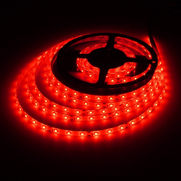 5M 24W DC12V 300 SMD 2835 Waterproof  LED Flexible Strip light Red Colour