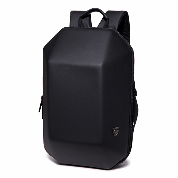 Men's Hard Shell Backpack Laptop Bag Black Colour