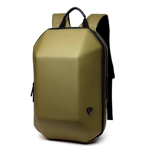 Men's Hard Shell Backpack Laptop Bag Gold Colour