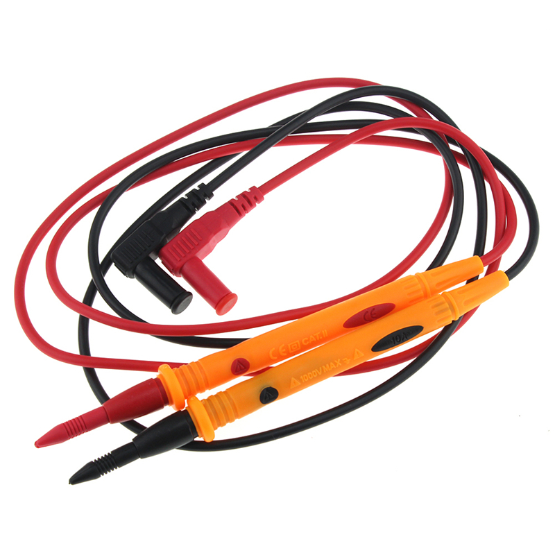 Heavy Duty 3010B 1000V 10A Rubberized Test Probe Leads Wire Pen Cable for Multimeter Voltmeter
