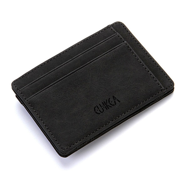 Men's PU Leather Wallet Credit Card Holder Black Colour