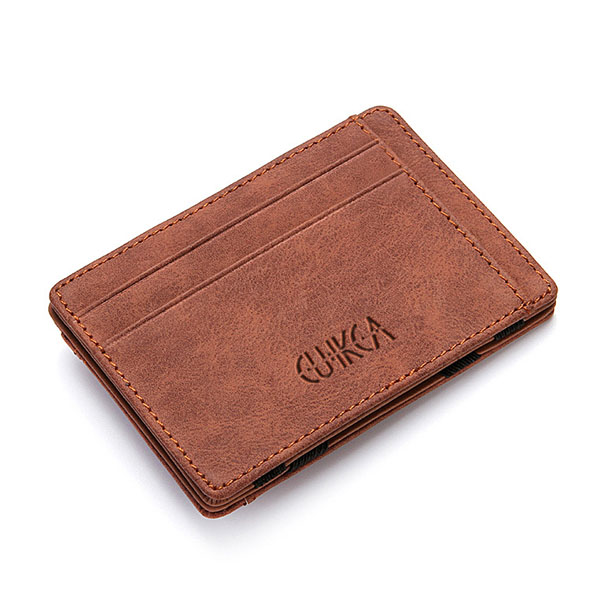 Men's PU Leather Wallet Credit Card Holder Coffee Colour