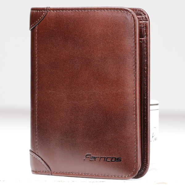 Men's RFID Blocking Secure Wallet Coffee Colour