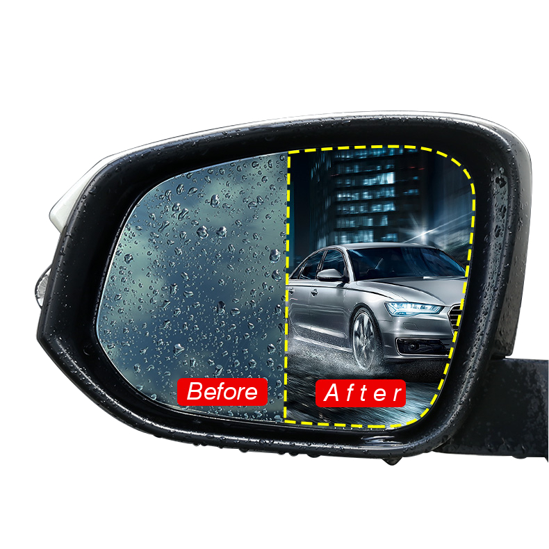 Car Anti Fog Rainproof Rear View Mirror Window Nano coating Protective Film