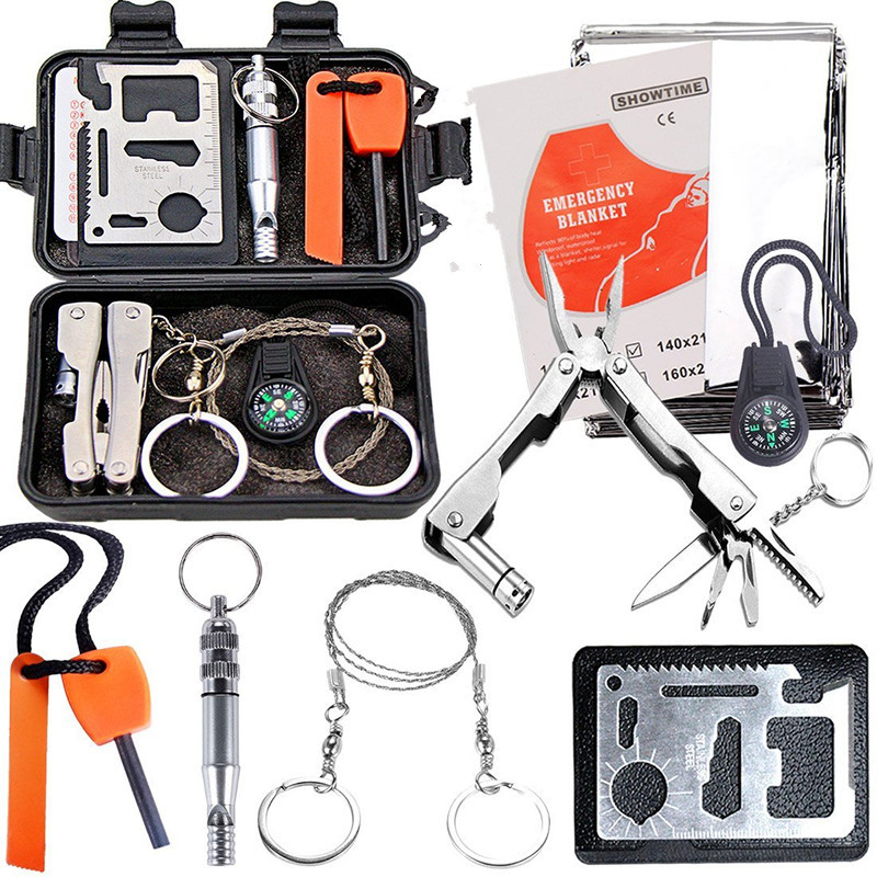 Outdoor SOS Emergency Survival Equipment Kit Tactical Hunting Tool