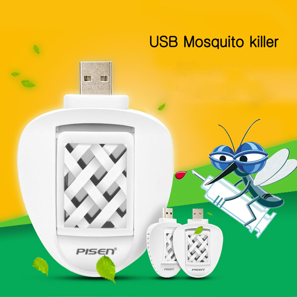 Portable USB Electric Mosquito Killer Repeller Eco Friendly Car Travel Repellent With 2 Mats