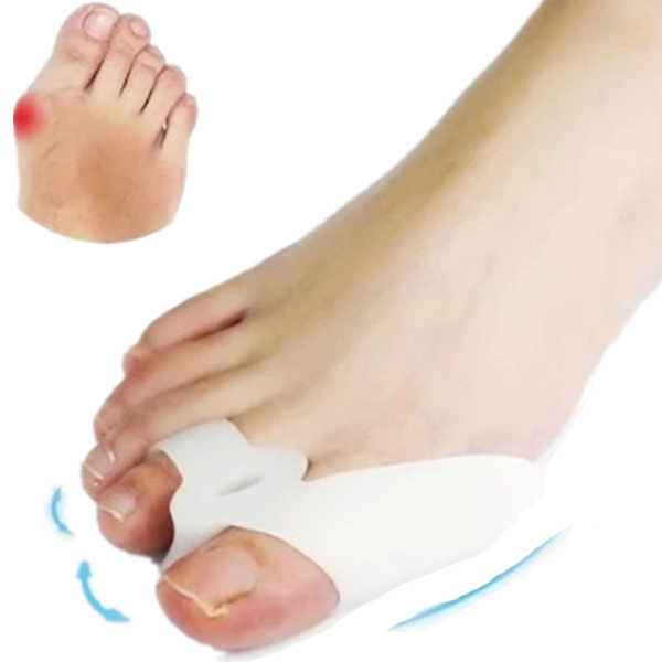 2Pcs Soft Silicone Toe phalanges Separators Corrector Bunion Protector Straightener for Hallux Valgus