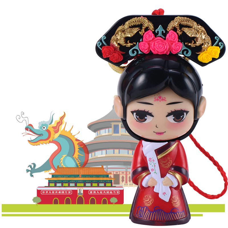 Chinese Forbidden City Queen Princess Face Changing Doll Toys Gifts Car Home Decoration