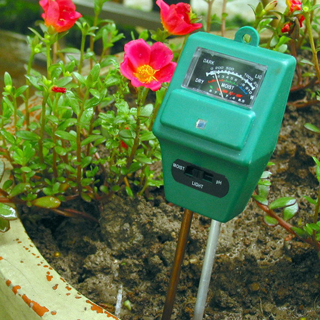 3 in 1 PH Sunlight Hydroponics Analyzer Smart Wood Soil Moisture Monitor Meter Sensor Kit Garden