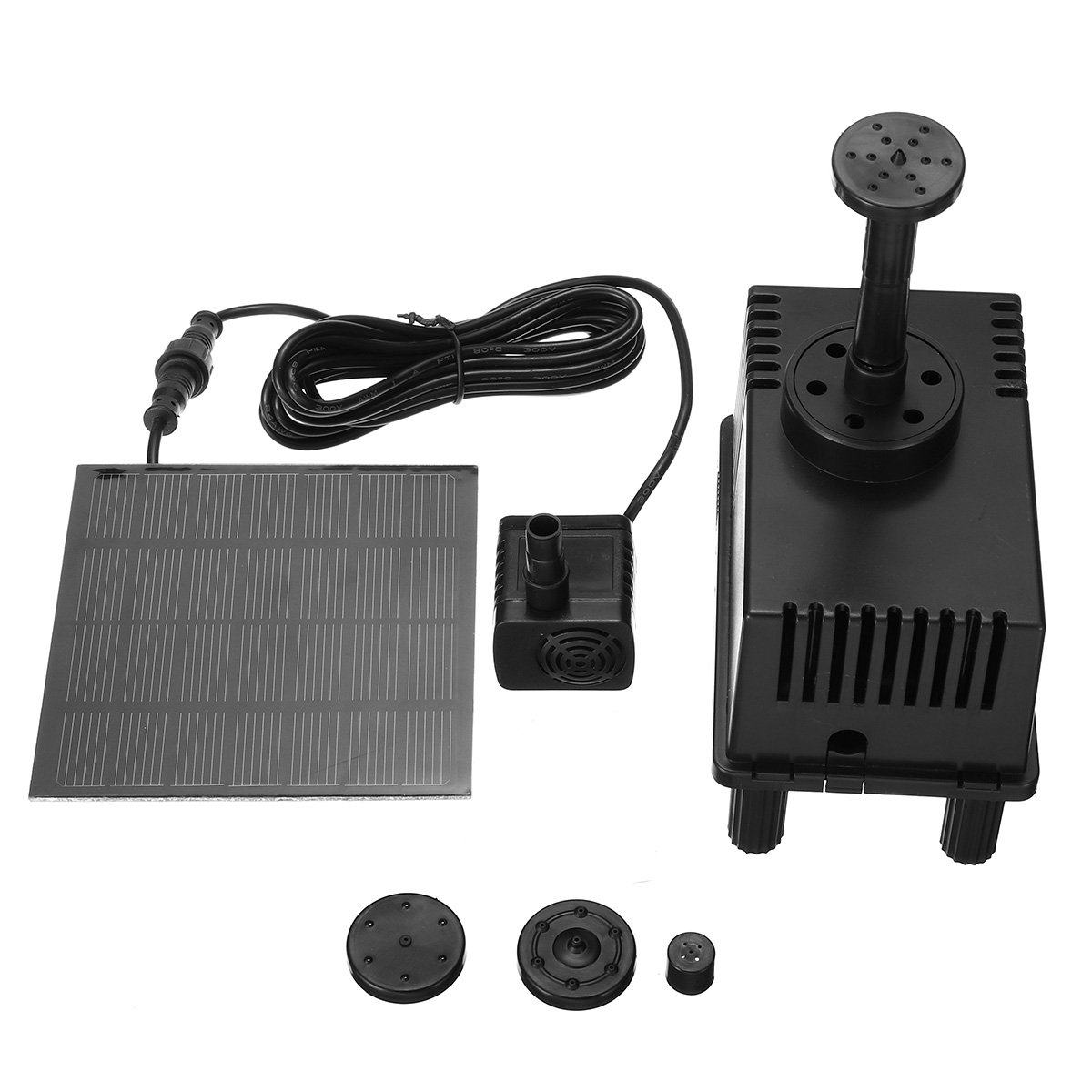 180L/H Solar Water Panel Power Fountain Pump Kit for Garden