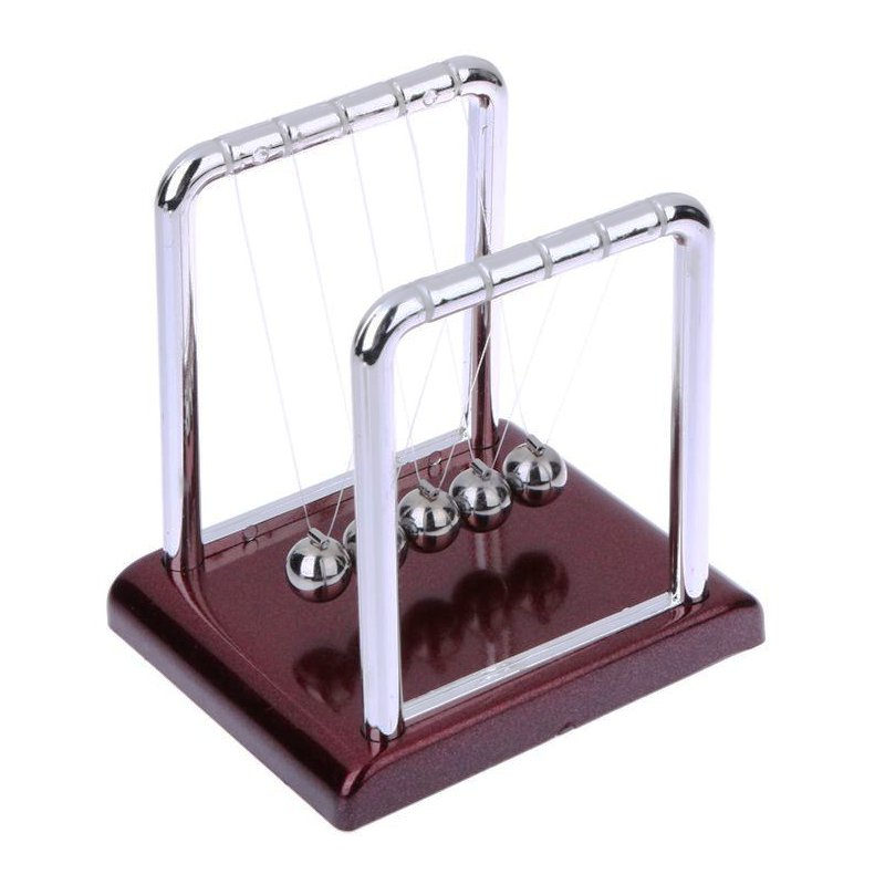 Newton's Cradle Balance Steel Ball Pendulum Physics Science Stress Relief