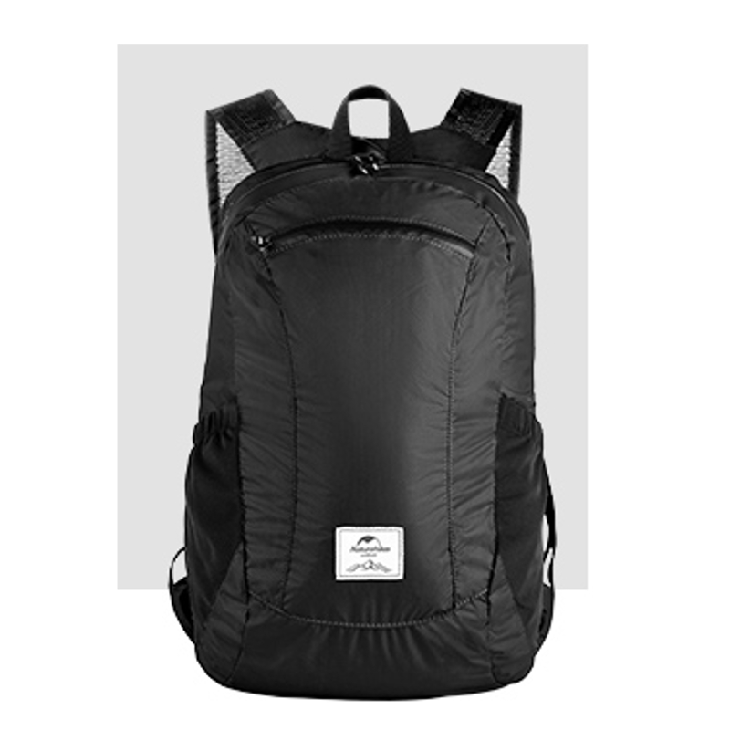 18L Foldable Camping Hiking Backpack Ultralight Folding Travel Outdoor Bag - Black