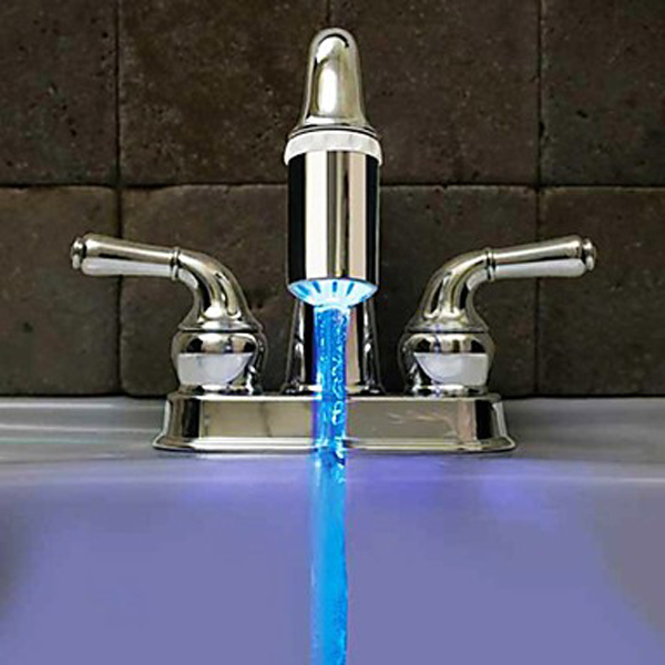 Water Faucet Glow LED Temperature Sensor Tap No Battery needed