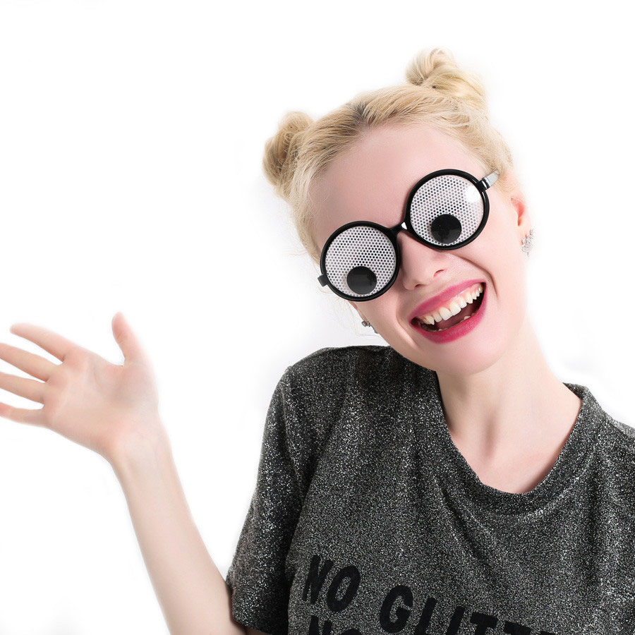 Funny giant eye Googly Eyes Goggles Shaking Eyes Ball Party Glasses Toys for Party Cosplay