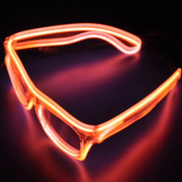 Halloween Flashlight Emitting Glasses interesting Glasses Funny Party - Orange