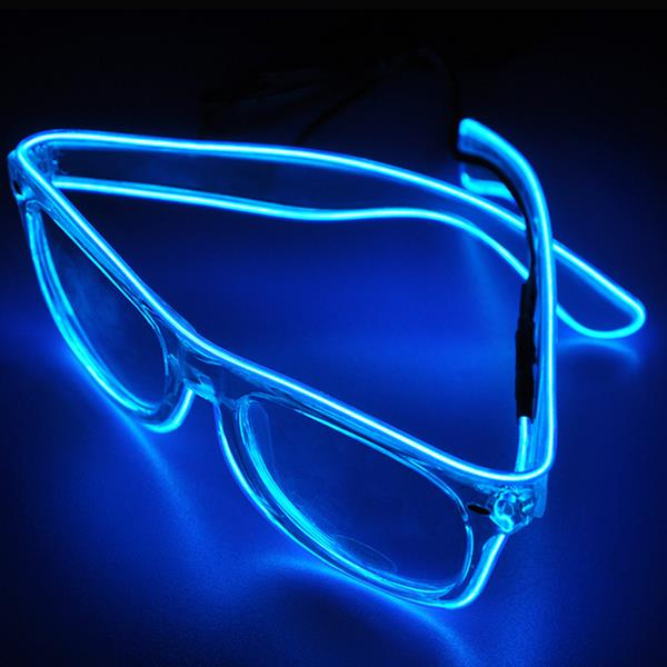 Halloween Flashlight Emitting Glasses interesting Glasses Funny Party - Blue