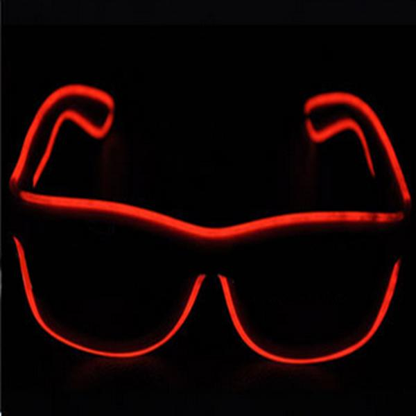 Halloween Flashlight Emitting Glasses interesting Glasses Funny Party - Red