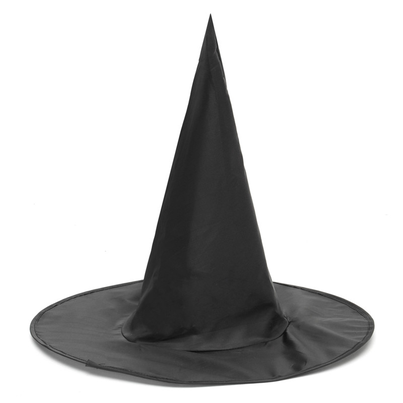 Halloween Witch Black Pointy Hat Men Women Kids Cosplay Costumes