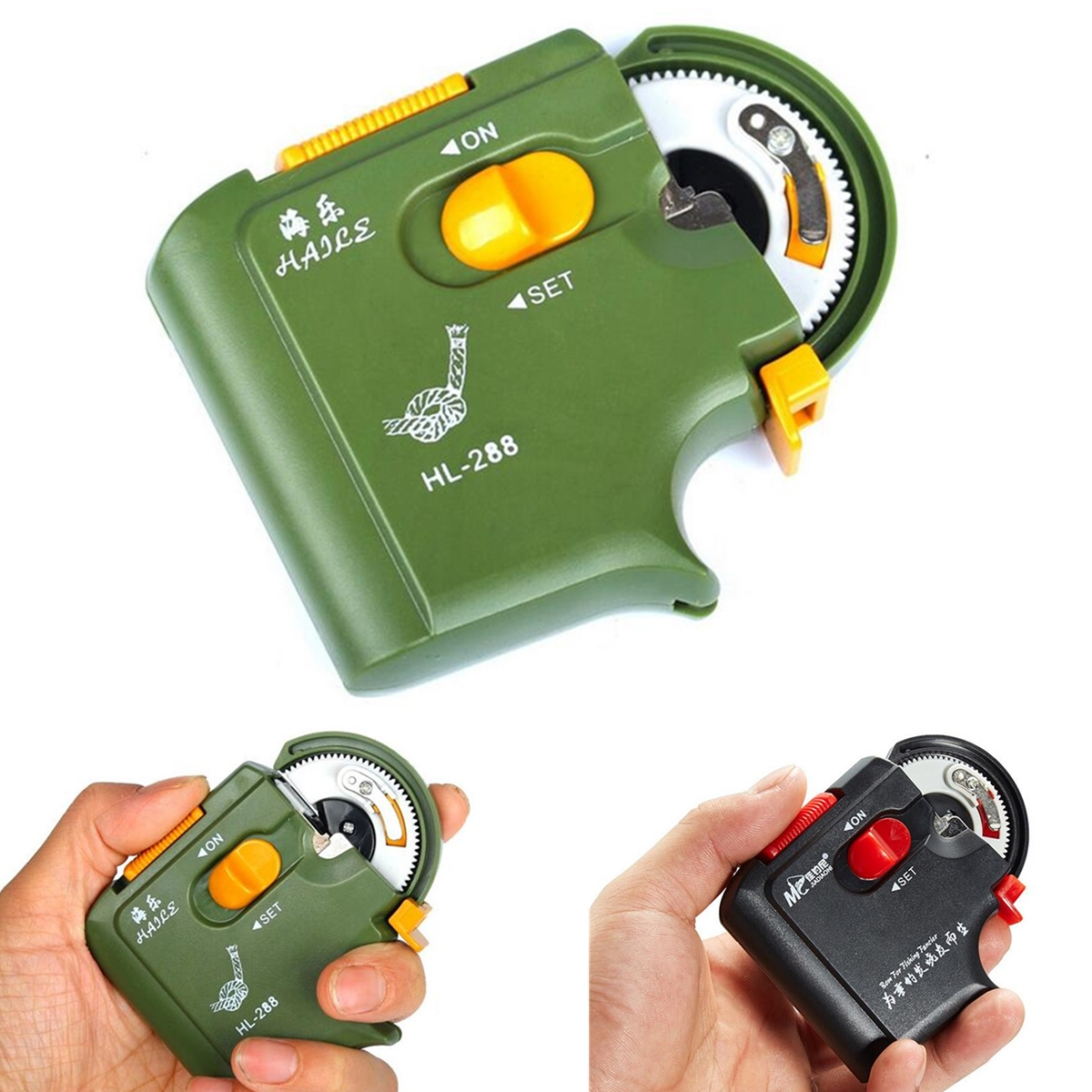 ABS Electric Fishing Hook Tier Automatic Tying Fishing Hook Device - Green