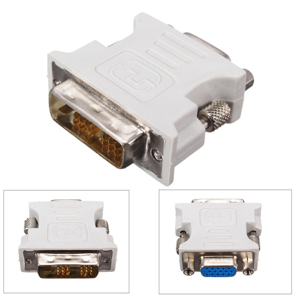 DVI-D (18+1) Dual Link Male to VGA HD15 Female Adapter replacement Converter for PC Laptop