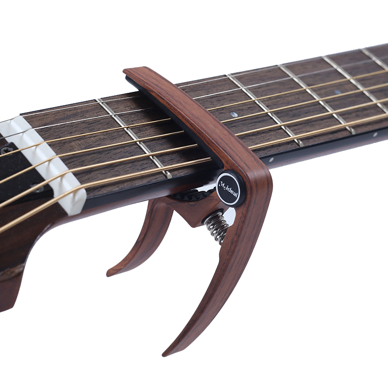 Guitar Alloy Capo Wood Pattern Grain Metal for Guitar Ukulele Tuning Beginners