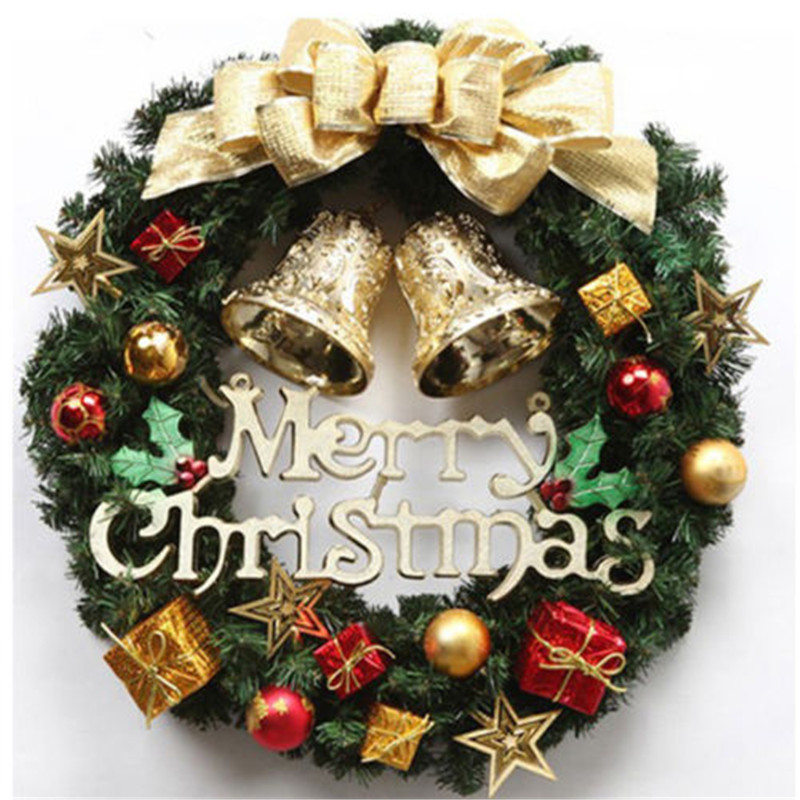 Christmas Holiday Wreath Door Ornament Garland Decoration Christmas Bell #002
