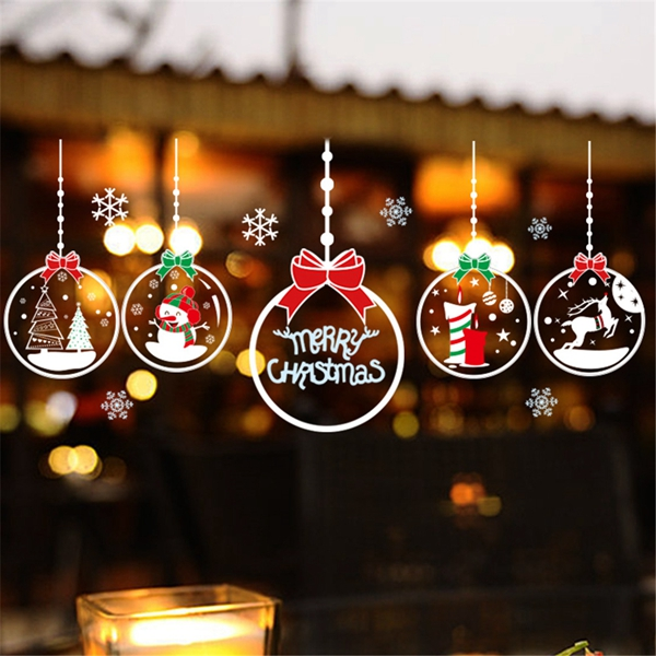 DIY Christmas Wall Stickers Home Decor Christmas Snow Window Glass sticker Decorative Wall Decal