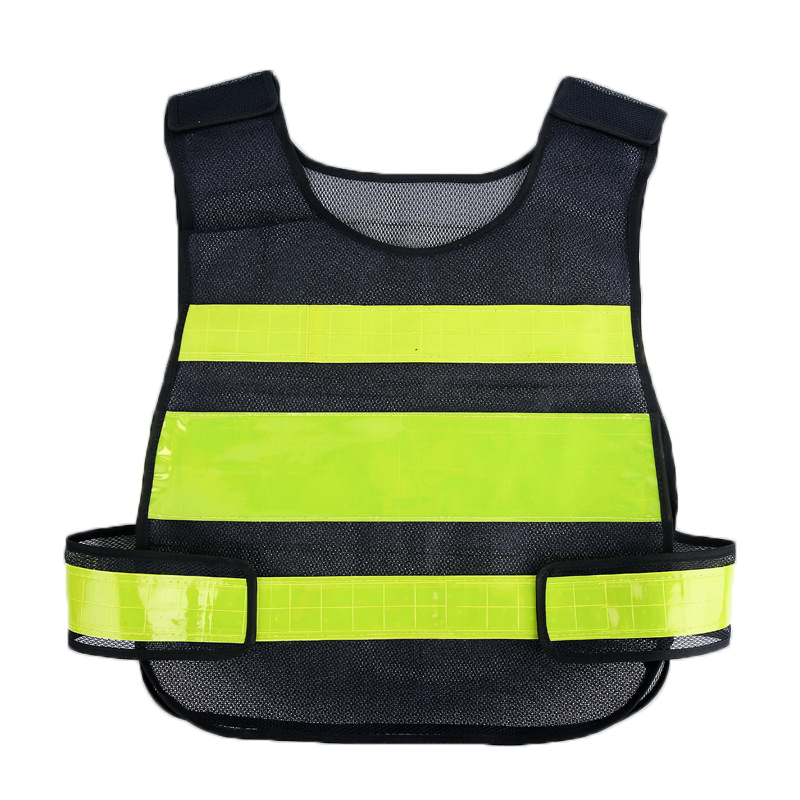 High Visibility Reflective Lightweight Vest Night Running Cycling Security Reflective Clothing - Black