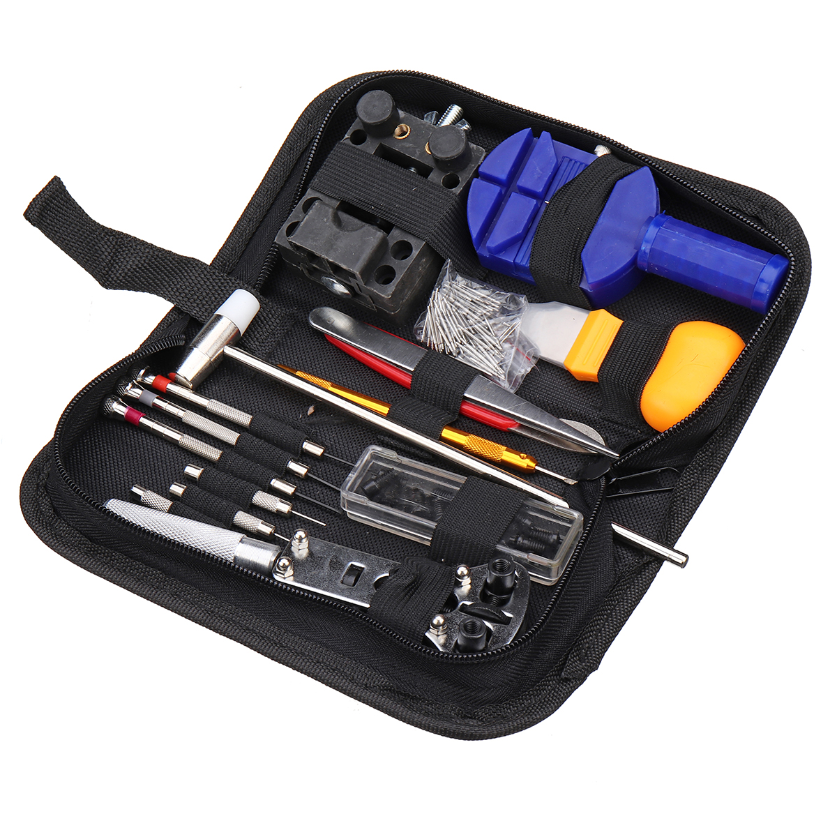 147Pcs Watch Repair Tools Kit Case Opener Watchmaker Tool with storage bag