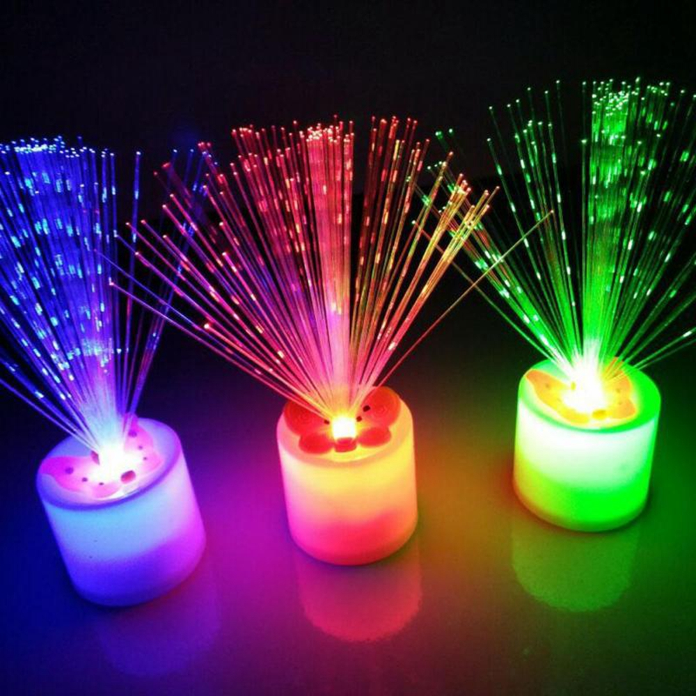LED Electronic Candle Night Light Chrismas Holiday Bedroom Living Room Decoration - Colorful