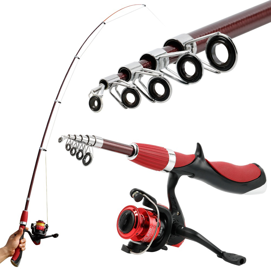 Carbon Fiber Lightweight Fishing Rod Reel Combo Tackle Set