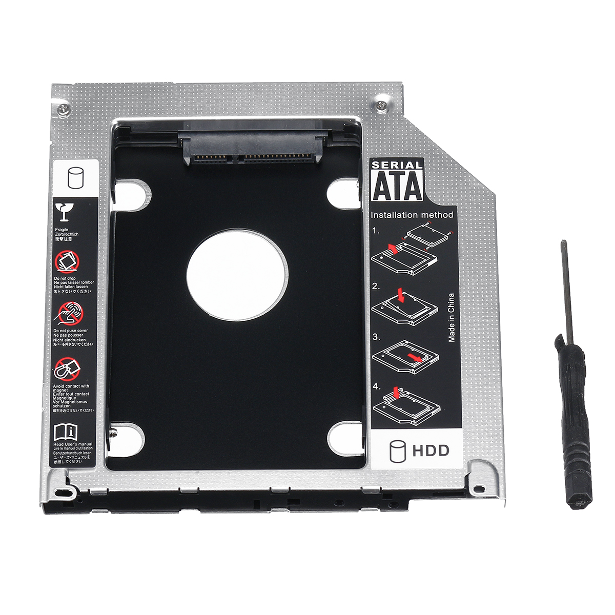 "2.5"" SATA Notebook Hard Drive Bay HDD SSD Caddy Converter Adapter with Screwdriver"