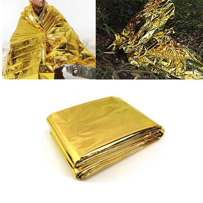 140x210cm Emergency Thermal Survival Blanket Waterproof Foil Rescue Mat outdoor camping