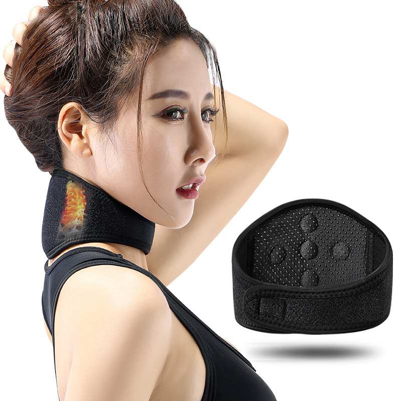 Magnetic Therapy Tourmaline Self-heating Neck Belt Heating Neck Support Fitness