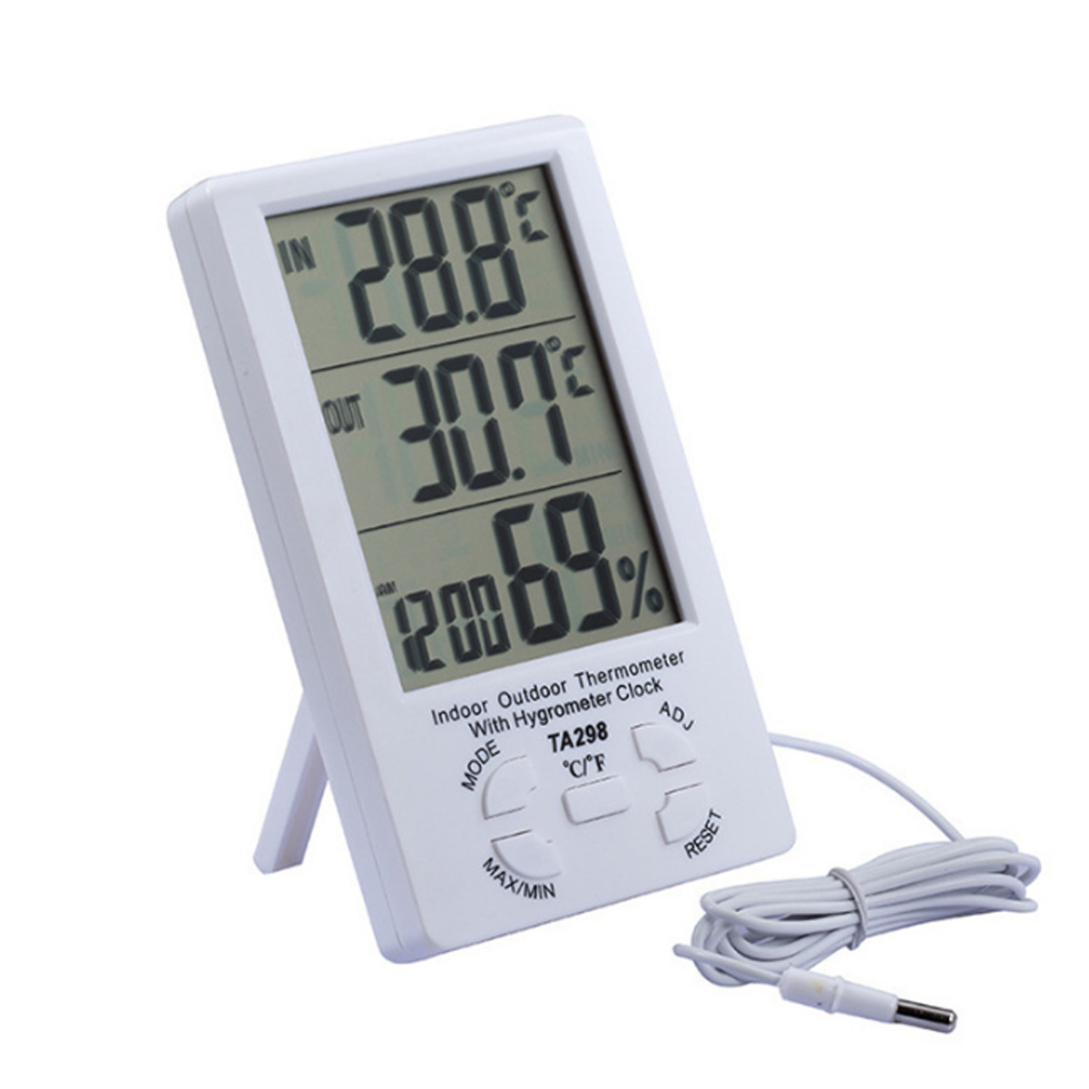 Digital Large Display Screen  Hygrometer Indoor Outdoor Temperature Thermometer