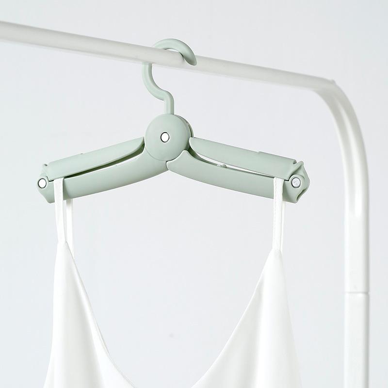 Portable Foldable Cloth Hanger Rack Travel Folding Clothes Hooks