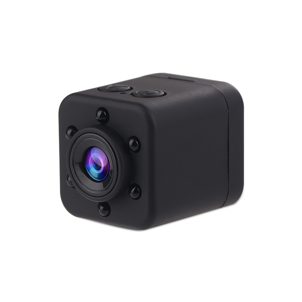 SQ18 Portable HD 1080P Mini Camera LED IR Night Vision Camcorder Sport Outdoor - Black