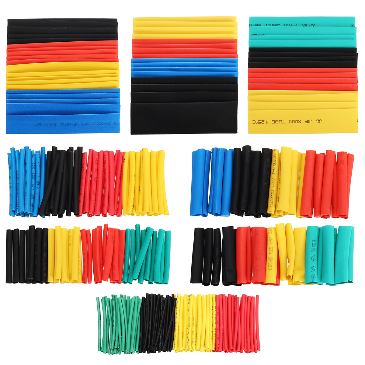 328pcs 2:1 Assorted 8 size Heat Shrink Tubing Insulation Electrical Shrinkable Tube Sleeve Cable