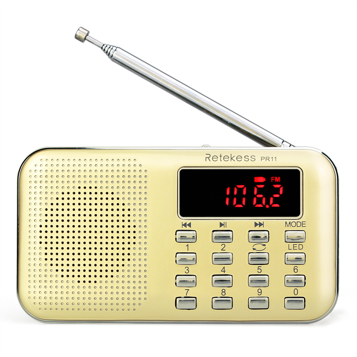 Portable Rechargeable Radio Digital Display Radio with FM AM support TF Card