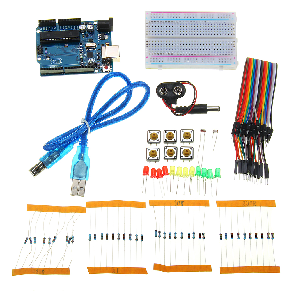 Basic Learning Starter Kits For DIY Resistors Dupont line Kit Beginner For UNO R3 Board