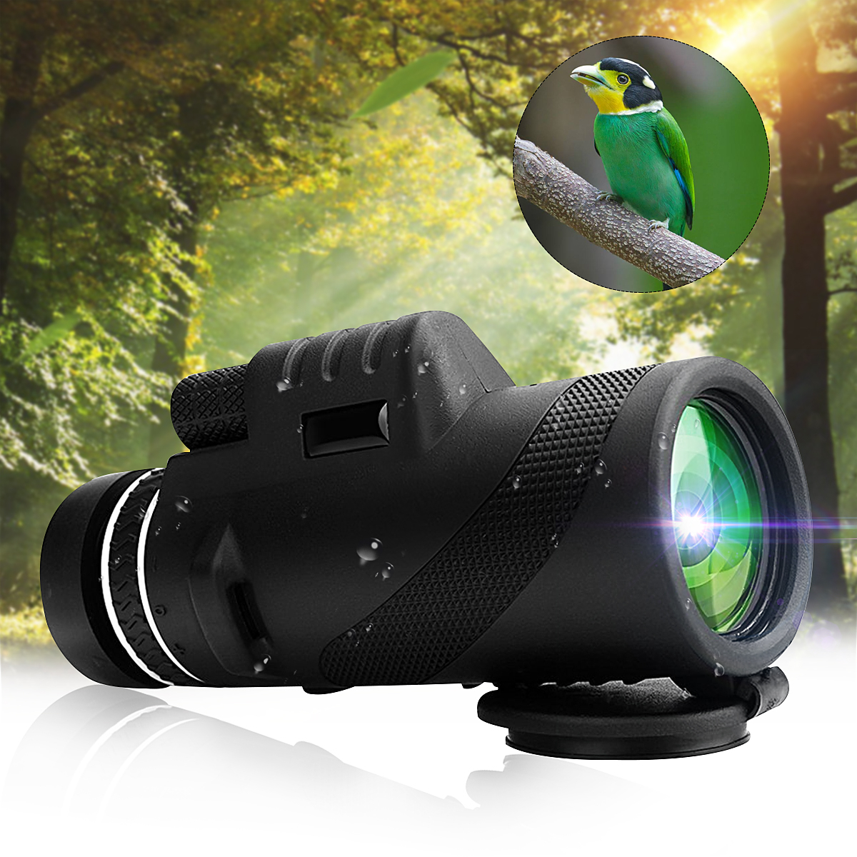 Portable 40x60 Monocular HD Optic Day Night Vision Telescope Camping Hiking Outdoor