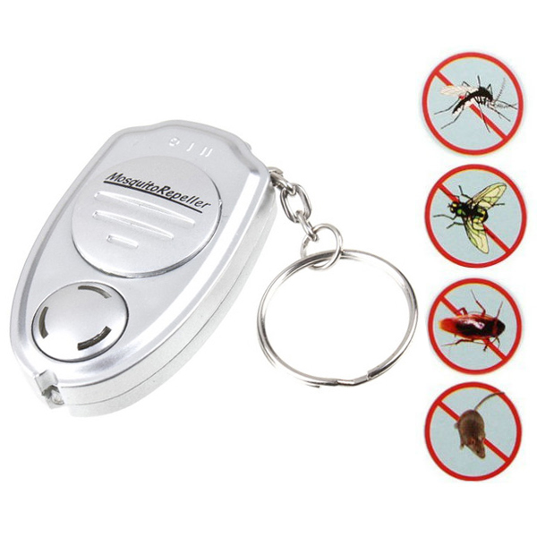 Ultrasonic Electronic Pest Anti Mosquito Repeller Keychain Pests Control Travel Home Fishing Outdoor