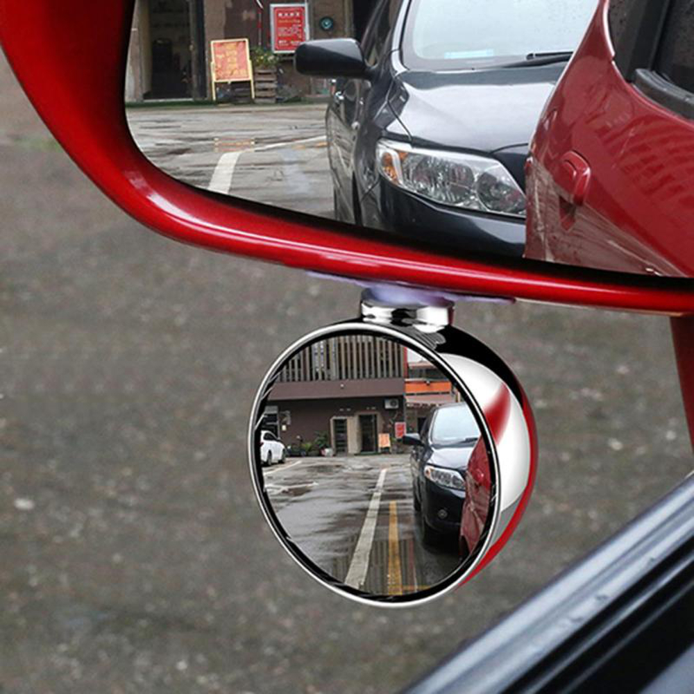 70mm Car Right Side Blind Spot Rearview Mirror HD Reversing Auxiliary Mirror - Silver
