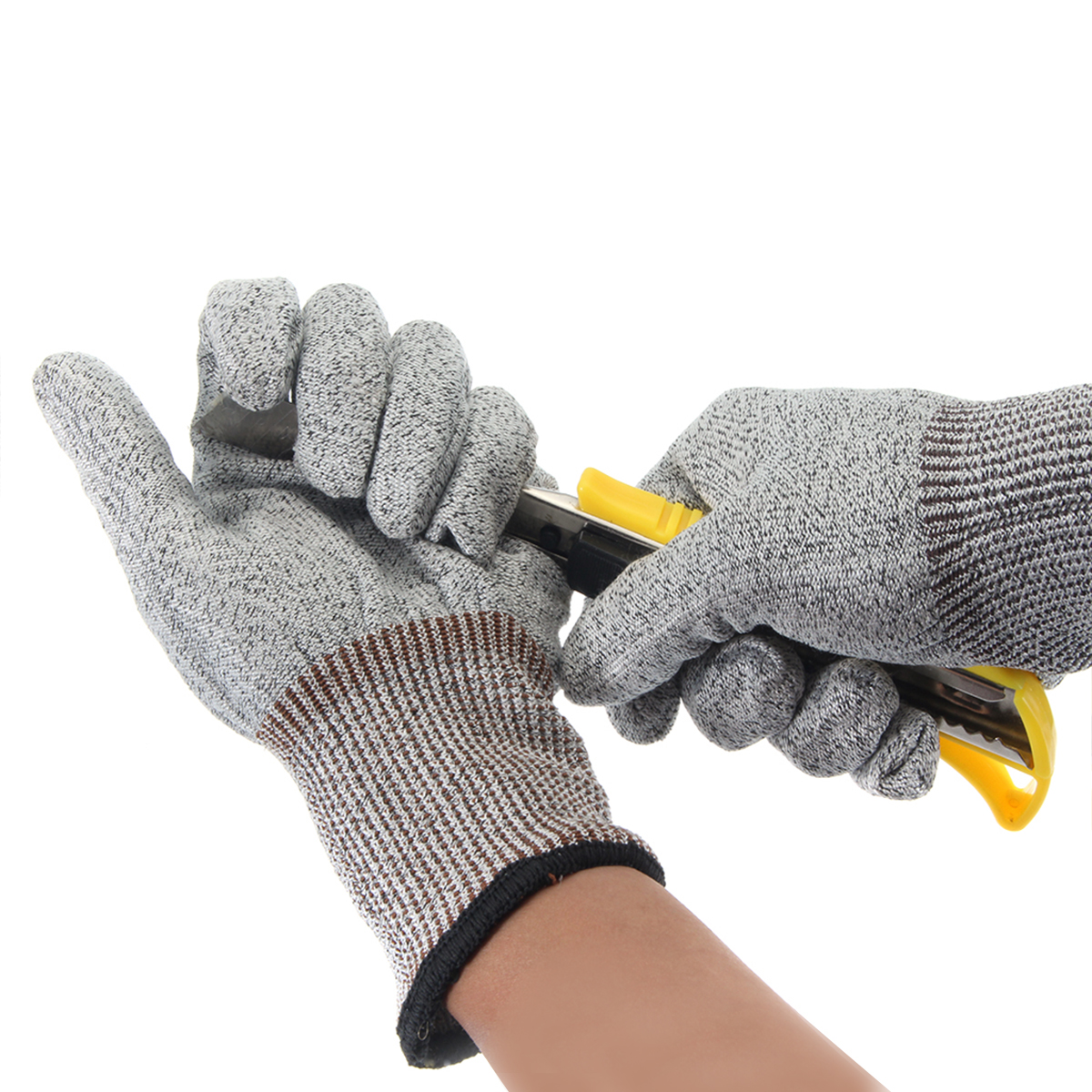 1 Pair Safety Cut-Proof Stab Resistant Stainless Steel Metal Mesh Work Butcher Anit-Cutting Gloves